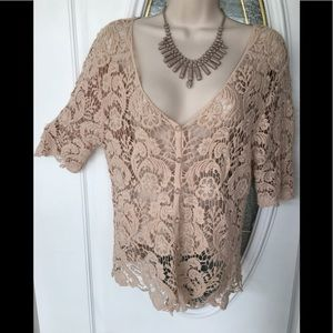 Questions Brand Nude Crocheted Jacket